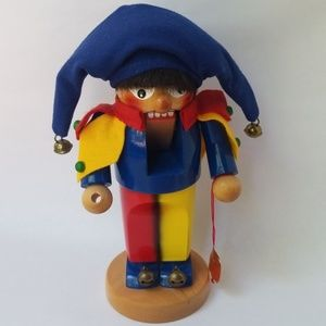 Steinbach German Chubby Jester Wooden Figure